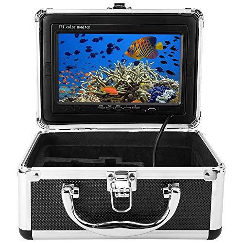Wireless Wifi Underwater Fishing Camera, Personal Safety Underwater Surveillance Fish Finder Fish School Monitor 1000 Tvl 20M(CA)