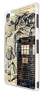 430 - Alice in wonderland Doctor Who Tardis Call Box Design For Sony Xperia M4 Fashion Trend CASE Back COVER Plastic&Thin Metal
