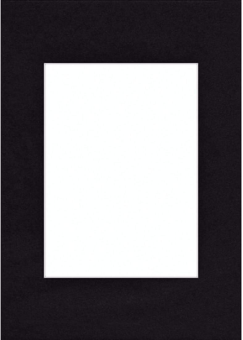 Marco Smooth Black, 50 x 70 cm, Negro, 500 mm, 700 mm 50 x 70 cm Smooth Black Hama Passepartout