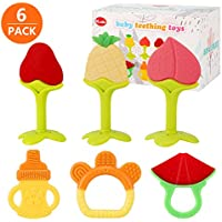 6-Pack SLotic Silicone BPA Free Baby Teething Toys