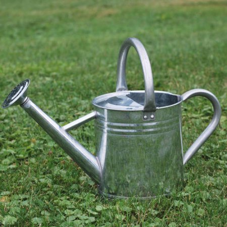 (Gardener's Select AW3005PG Watering Can, Galvanized, 7 L)
