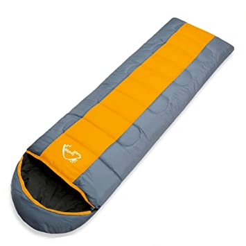 new arrival 81458 2b87d Lixada Thermal Adult Sleeping Bag, Autumn Winter Envelope Hooded Outdoor  Travel Camping Water Resistant Thick 1.3kg Orange