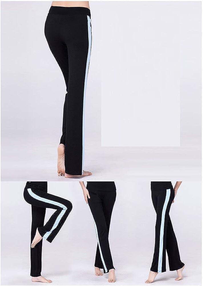 Pantalones de Pierna Recta Casual para Pilates con Tiras Laterales Ejercicios de Gimnasia el/ástica Fitness Running Joggers Pantalones de Yoga de Cintura Alta para Mujer