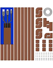 Cable Concealer, 157in Cord Cover Wall, Paintable Cable Cover Raceway, Cord Hider Kit for Hiding Wires in Home and Office, 10X L15.7in X W0.95in X 0.55in