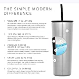 Simple Modern 24oz Classic Tumbler with Straw Lid & Flip Lid - Travel Mug Gift Vacuum Insulated Coffee Beer Pint Cup - 18/8 Stainless Steel Water Bottle -Simple Stainless