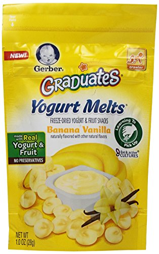 Gerber Graduates Yogurt Melts, Banana Vanilla, 1 Ounce (Pack of 7)