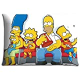 40x60cm 16x24inch bedding pillow covers cases Cotton / Polyester Fabric graceful The Simpsons Movie