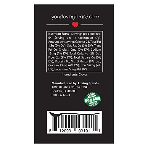 Loving Spoonful 16oz (454g) Premium Ground Cloves | Food Service 1lb Bulk Size (Bottle) by Loving Spoonful (Image #2)
