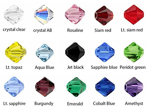 Creative Club Wholesale Mix Lots 6mm #5301 Bicone Crystal Beads #5301 with Container Box (500pcs) CCS2 ()