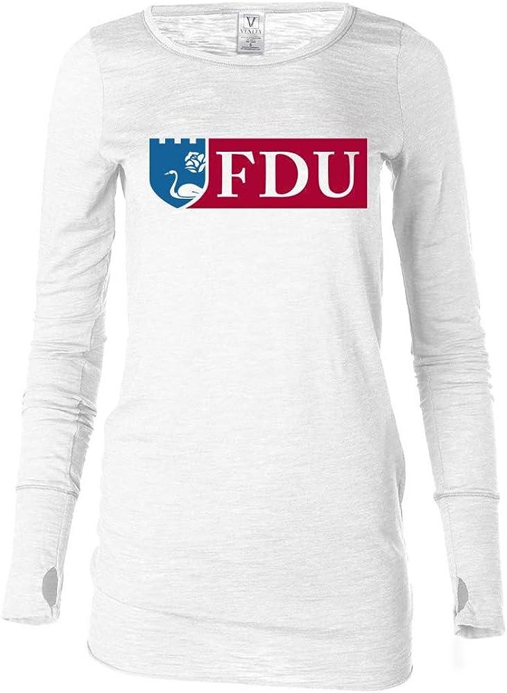 Venley Official NCAA Fairleigh Dickinson Knights PPFDU02 Womens Long Sleeve Thumbhole Tee