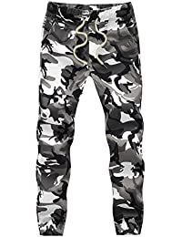 Men's Casual Pure Cotton Woven Camouflage Camo Joggers Jogger Pants Sweatpants