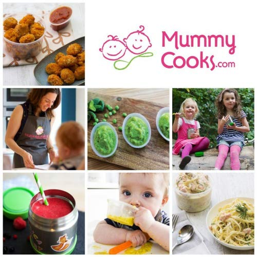 azul Termo para comida infantil con aislamiento pegatinas gratuitas Mummy Cooks 300 ml