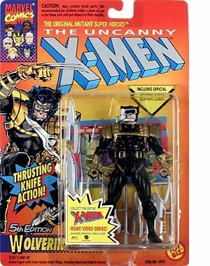 Toy Biz The Uncanny X-Men Wolverine (5th Edition) Black Outfit Action Figure 4.75 Inches from Marvel