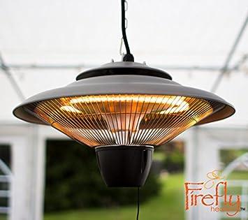 hanging patio heater. Firefly 1.5kW Ceiling Hanging Electric Halogen Garden Outdoor Patio Heater U