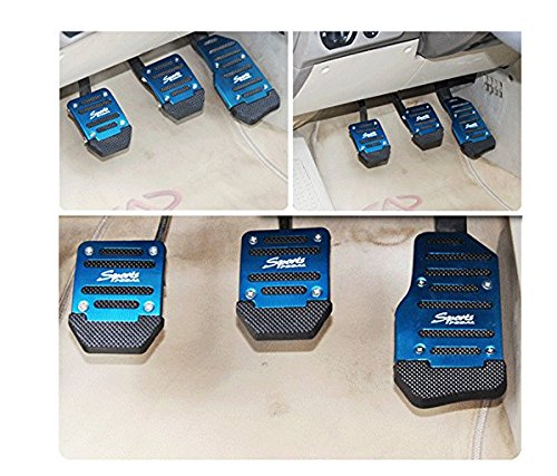 pedale automatico blu antiscivolo Copertura per pedali dell/'auto in lega di alluminio
