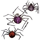 Wall Decor Crafts Illuminated Spider Decorations Chipboard Assorted Sizes (2 Pack)
