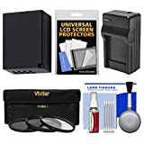 Essentials Bundle for Fuji X-A5, X-A10, X-E3, X-H1, X-T1 X-T2, X-T10, X-T20, X-T100 with 16-50mm, 18-55mm Lens with NP-W126 Battery & Charger + 3 UV/CPL/ND8 Filters + Kit