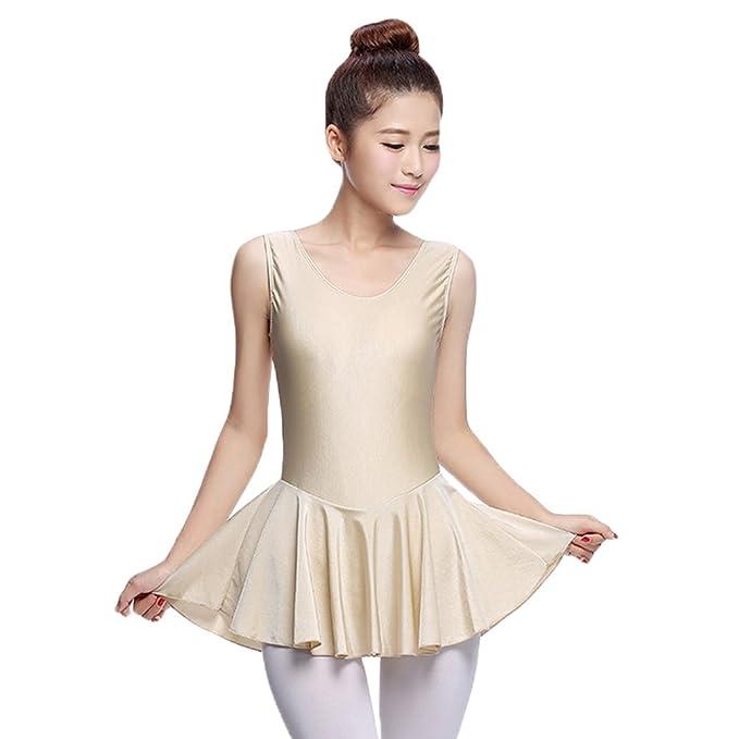 LINNUO Mujer Maillot de Ballet Danza Leotardo Vestido Tutú Vestido Clásico Dancewear: Amazon.es: Ropa y accesorios