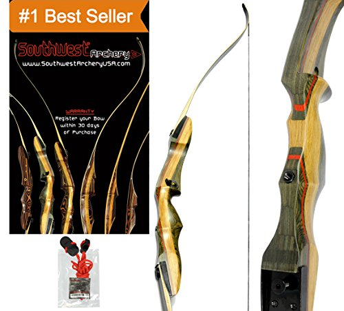 Spyder Takedown Recurve Bow & arrow by Southwest Archery USA | weights 20 25 30 35 40 45 50 55 60 lb | LEFT or RIGHT HAND Archery Kit | Designed by Engineers of the Samick Sage | WS 45 lb RH W/ TOOL (Recurve Bow Draw Weight)