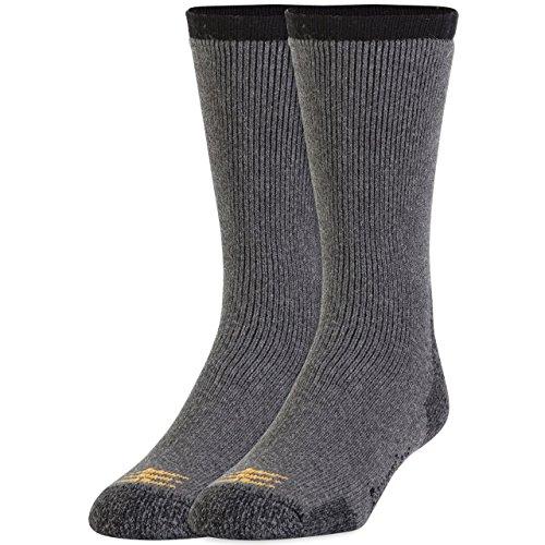 Gold Toe Men's 2-Pk Powersox Heavy Cushion Socks, Charcoal, Large