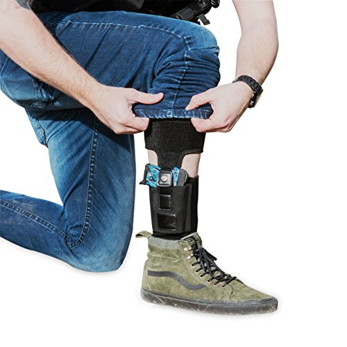 Teknon Concealed Carry Handgun Ankle Holster-Compact Neoprene Holster for Men & Women with Calf Support Strap
