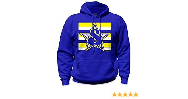 fa06a4abb Amazon.com: SafetyShirtz Classic Seattle Safety Hoody Blue/ Yellow: Clothing