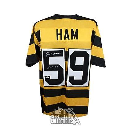 646274d2972 Autographed Jack Ham Jersey - HOF Custom Bumblebee COA - JSA Certified -  Autographed NFL Jerseys