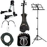 Black Meisel Electric Violin Deluxe w/Accessories