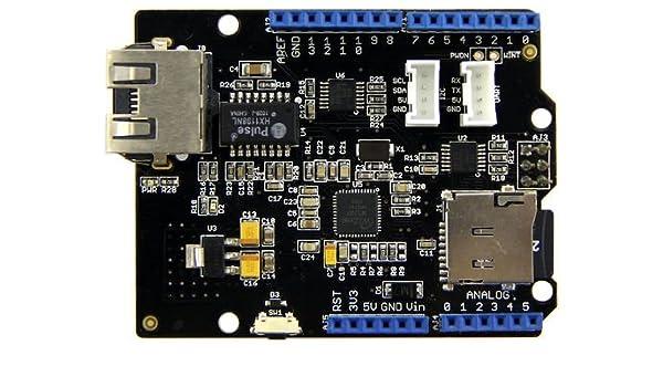 Seeed Studio Ethernet Shield V2  2 W5200: Amazon com