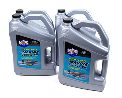 Lucas Oil Products 10861-4 Synthetic Blend 2 Cycle Marine Oil, 4 gallon, 1 Pack