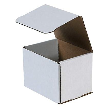 Corrugated Mailers 50//Bundle White 5 x 4 x 4