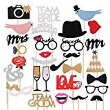 TRIXES 31PC Assorted Wedding Engagement DIY Photo Booth Props Wedding Favour Party accessories