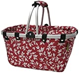 JanetBasket NB009-L Red Floral Large Aluminum Frame Basket Review