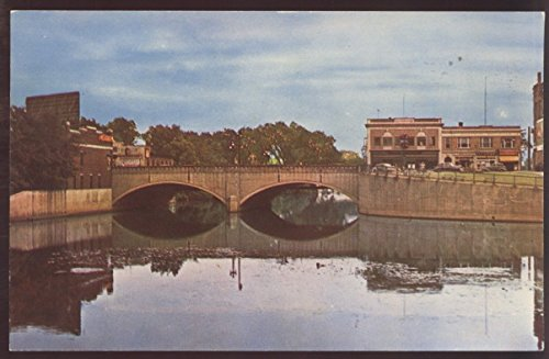 Nashua New Hampshire Main Street Bridge Postcard