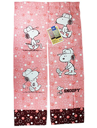Peanuts Snoopy Pink Colored Golf Themed Window