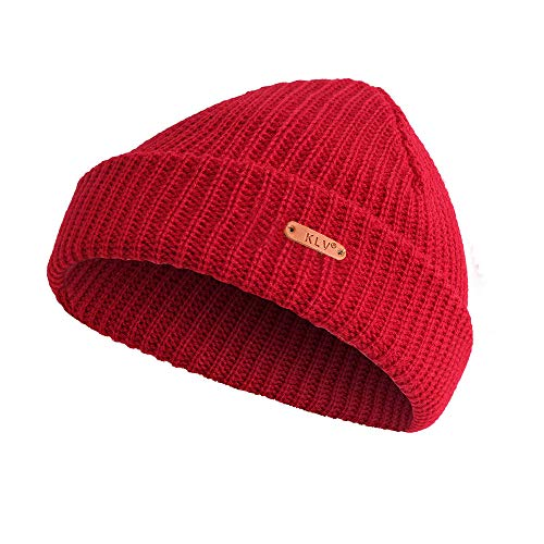 EnjoCho ❤Men Women Baggy Warm Crochet Winter Wool Knit Ski Beanie Skull Slouchy Caps Hat (Wine Red)