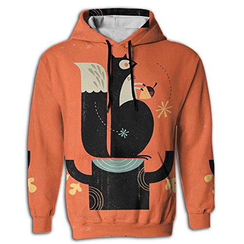 FUSALIN Squirrel With Hazel NutsUnisex 3D Printed Sweatshirt Casual Pullover Hoodie With Big Pockets