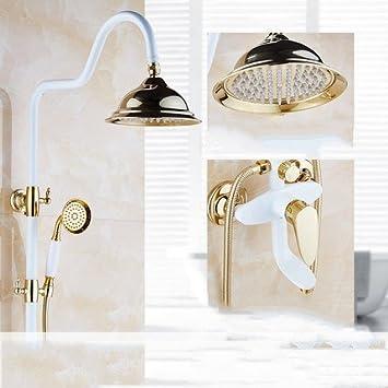 ZXY-dusche europa alt blumen dusche bad toilette lift braten weißen ...