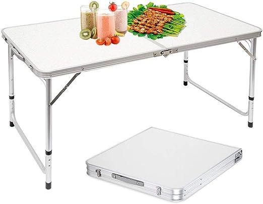 Nestling® Mesa Plegable de Aluminio portátil para Interior y ...