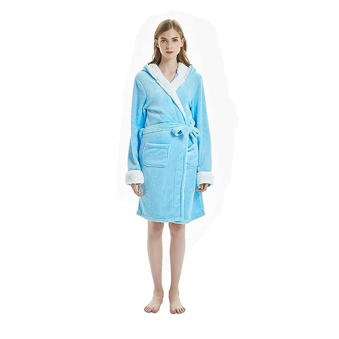 WYSMOL Unisex Adulto Franela Unicornio Albornoces Batas y Kimonos Pijamas Ropa de Dormir: Amazon.es: Ropa y accesorios