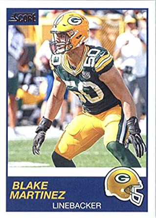 hot sale online 7c61e b12da Amazon.com: 2019 Score #229 Blake Martinez Green Bay Packers ...