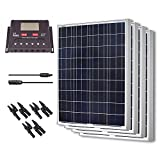 Renogy 400 Watt 12 Volt Polycrystalline Solar Bundle Kit with 30A PWM Controller - LCD Display