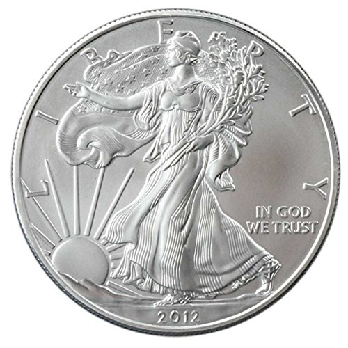 2012-1 oz American Silver Eagle .999 Fine Silver with our Certificate of Authenticity Dollar Uncirculated US Mint ()
