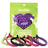 Mouttop Mosquito Repellent Bracelet,100% Deet-Free Natural Plant-Based Oil And Soft Fiber Material Effective Insect/Bug/Pest Repellent Bands for Outdoor & Indoor, Safe for Kids and Adults Pack of 10