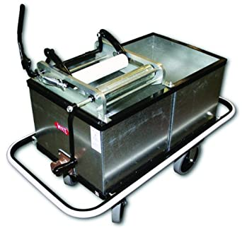 Impact 600 Pre Galvanized Steel Mopping Tank with Two 30-Gallon Compartments