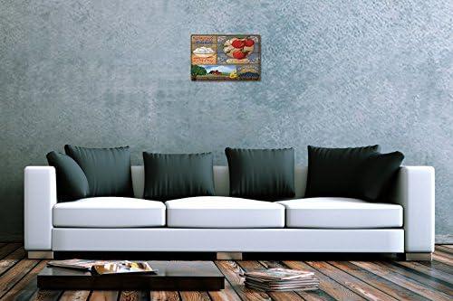 Blechschild Retro Wand Schild Eier Äpfel Blaubeeren Metallschild 20X30 cm