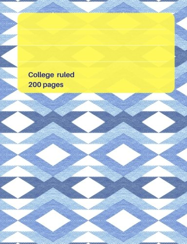 """Modern Chevron Pattern rich blue color Composition College ruled book: 7.44"""" x 9.69"""" - 200 pages, Matte finish, Creative Journal, use it as a Writer's ... School, to make lists, Class subject notebook pdf"""