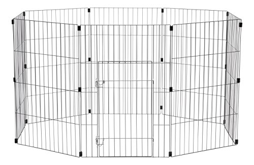 - IRIS Wire Exercise Pet Pen, 36-Inch, Silver
