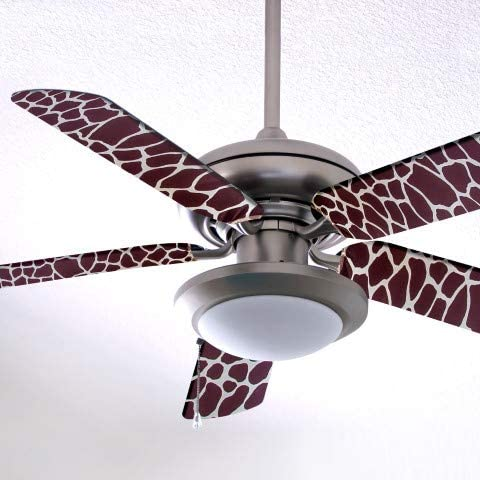 Fancy Blade Ceiling Fan Accesories Blade Cover Decoration Brown Giraffe Home Kitchen