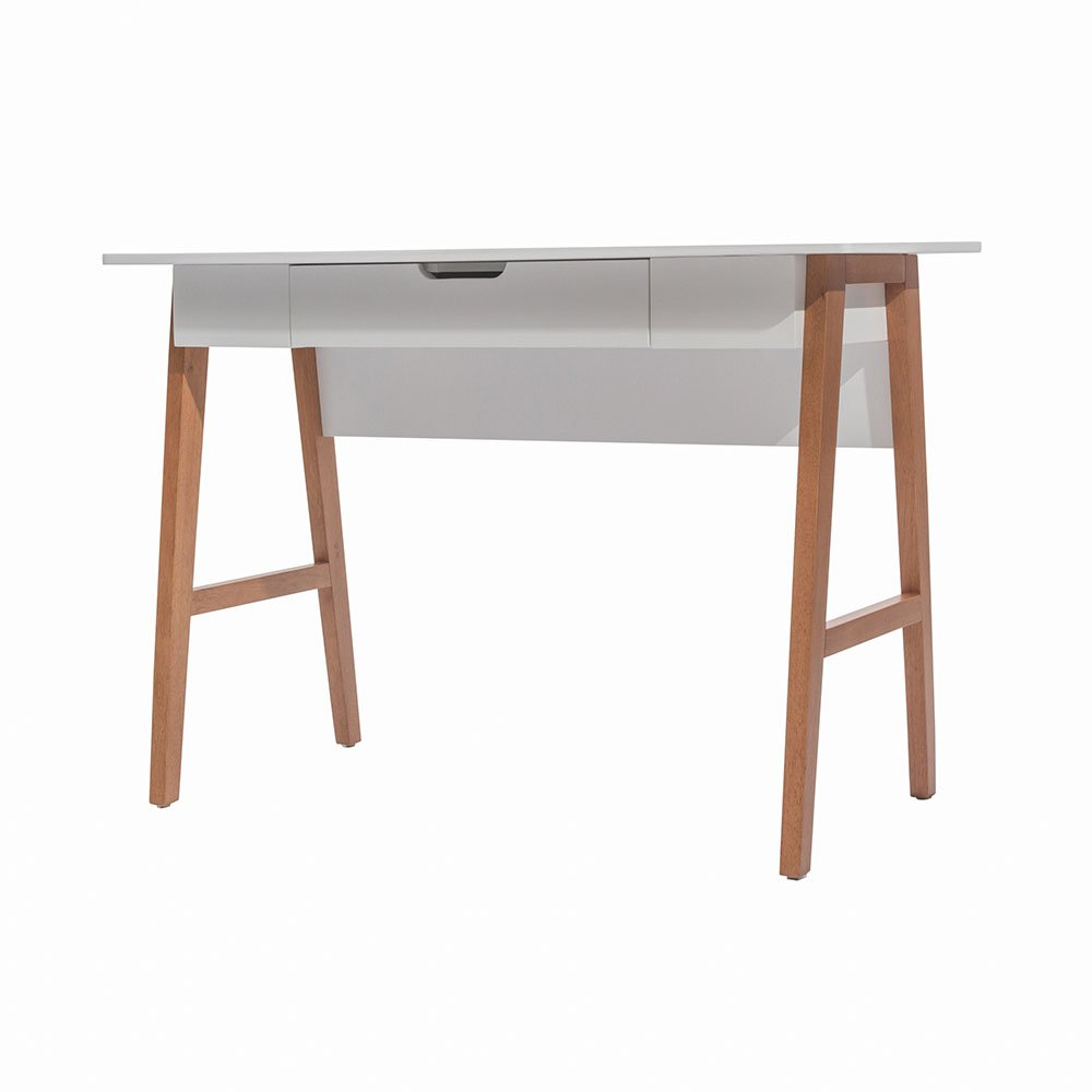 Nathan James 51101 Telos Home Office Computer Desk with Drawer, 42'', White/Brown by Nathan James (Image #9)
